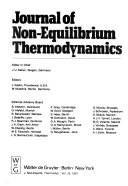 Journal of Non equilibrium Thermodynamics