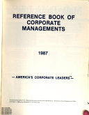 Reference Book Of Corporate Managements