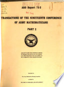 Transactions of the ... Conference of Army Mathematicians