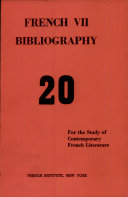 French VII Bibliography ebook