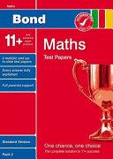 Bond 11+ Test Papers Maths Standard Pack 2