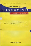 Leadership Essentials For Children S Ministry Book