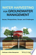 Book Cover: Water Harvesting for Groundwater Management