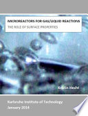 Microreactors for Gas/Liquid Reactions