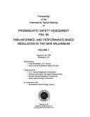 Proceedings of the International Topical Meeting on Probabilistic Safety Assessment  PSA  99
