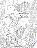 Wonderful Animals Coloring Book for Grown Ups 1   2