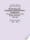 British Museum Catalogue Of Printed Books Supplement