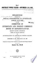 Northeast Power Failure  November 9  10  1965