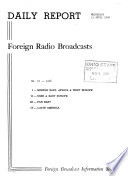 Daily Report, Foreign Radio Broadcasts