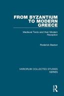 From Byzantium to Modern Greece
