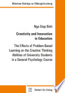 Creativity And Innovation In Education Book PDF