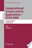 Computational Science and Its Applications   ICCSA 2005 Book