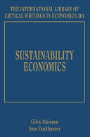 Sustainability Economics