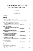 New Zealand journal of environmental law