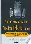 African Perspectives in American Higher Education