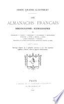 Les Almanachs Fran  ais  Bibliographie iconographie