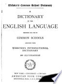 Webster S Common School Dictionary Book PDF