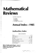 Index of Mathematical Papers