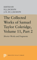 The Collected Works of Samuel Taylor Coleridge  Volume 11