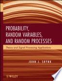 Probability  Random Variables  and Random Processes Book