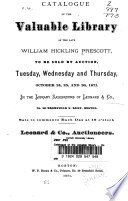 Catalogue of the Valuable Library     Oct  24 26 1871