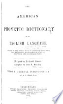 The American Phonetic Dictionary of the English Language Book