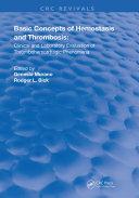Basic Concepts Of Hemostasis