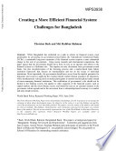Creating a More Efficient Financial System