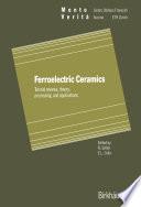 Ferroelectric Ceramics Book