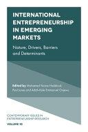 International Entrepreneurship in Emerging Markets