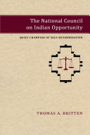 The National Council on Indian Opportunity