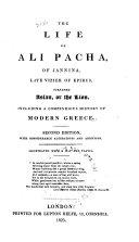 The Life of Ali Pacha, of Jannina