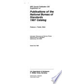 Publications of the National Institute of Standards and Technology     Catalog Book