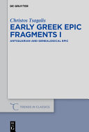 Early Greek Epic Fragments I