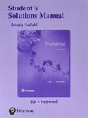 Student's Solutions Manual for Prealgebra
