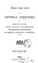 Mason s court guide and general directory for Brentford  Kew  Ealing   c