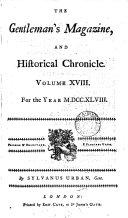 THE GENTLEMAN'S MAGAZINE, AND HIFTORICALE CHRONICLE VOLUME XVIII