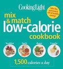 Cooking Light Mix   Match Low Calorie Cookbook