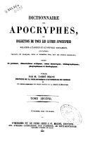 Dictionnaire des apocryphes ebook