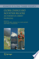 Global Change and Mountain Regions Book