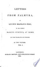Letters from Palmyra Book