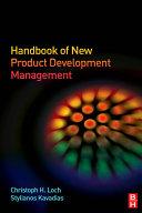 Handbook of New Product Development Management