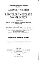 Elementary Principles of Reinforced Concrete Construction Book