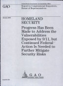 Pdf Homeland Security: Progress has Been Made to Address the Vulnerabilities Exposed by 9/11, but Continued Federal Action is Needed to Further Mitigate Security Risks