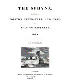 The Sphynx. Journal Of Politics, Literature, And News