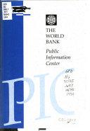 The World Bank Public Information Center