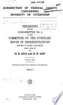 Jurisdiction Of Federal Courts Concerning Diversity Of Citizenship