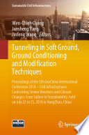 Tunneling in Soft Ground  Ground Conditioning and Modification Techniques