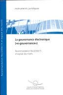 "Electronic Governance (""e-governance"")"