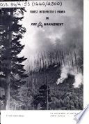 Forest Interpreter s Primer on Fire Management